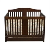 DaVinci Richmond Pine 4-in-1 Convertible Wood Crib w/ Toddler Rail in Espresso