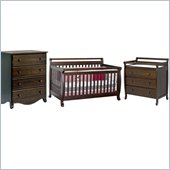DaVinci Emily 4-in-1 Wood Baby Crib Set in Espresso