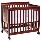 DaVinci Kalani Convertible Mini Wood Crib in Cherry Finish