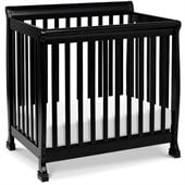 DaVinci Kalani Convertible Mini Wood Crib in Ebony Finish