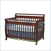 Da Vinci Emily 4-in-1 Convertible Wood Baby Crib Set w/ Toddler Rail in Cherry