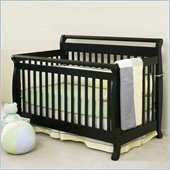 Da Vinci Emily 4-in-1 Convertible Wood Baby Crib Set w/ Toddler Rail in Ebony