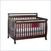 Da Vinci Emily 4-in-1 Convertible Wood Crib Set w/ Toddler Rail in Espresso 