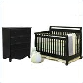 DaVinci Emily Convertible Baby Crib and Chest in Ebony