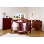 DaVinci Parker 3 Piece Convertible Crib Nursery Set w/ Toddler Rails in Cherry