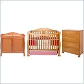 DaVinci Parker 3-PC Convertible Crib Nursery Set w/ Toddler Rail in Oak