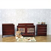 DaVinci Porter 4-in-1 convertible Crib in Cherry Including Toddler Rails