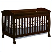 DaVinci Jacob 4-in-1 Convertible Crib and Full Size Rail Kit in Espresso Including Toddler Rails