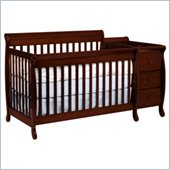 DaVinci Kalani Convertible 4-in-1 Baby Crib and Changer including Toddler Rail in Cherry