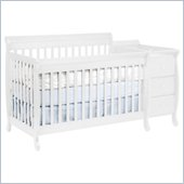 DaVinci Kalani Convertible 4-in-1 Baby Crib and Changer including Toddler Rail in White