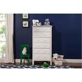 DaVinci Jayden 6 Drawer Tall Dresser in White