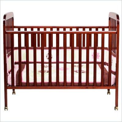 DaVinci Alpha 3-in-1 Stationary Convertible Wood Crib in Cherry