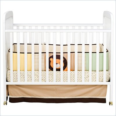 DaVinci Alpha 3-in-1 Stationary Convertible Wood Crib in White