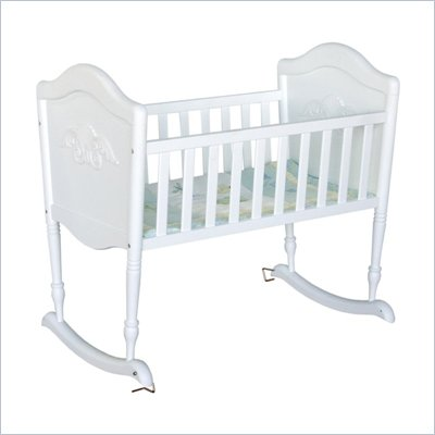 DaVinci Chloe Wood Baby Cradle in White