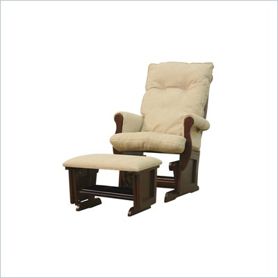 DaVinci Classic Sleigh Glider and Ottoman in Espresso