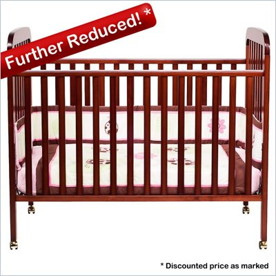 Da Vinci Alpha 3-in-1 Stationary Convertible Wood Crib Set in Cherry