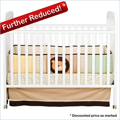 Da Vinci Alpha 3-in-1 Stationary Convertible Wood Crib Set in White