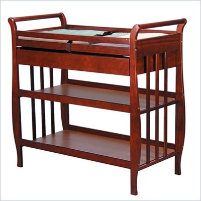 DaVinci Emily Pine Wood Changing Table with Drawer in Cherry