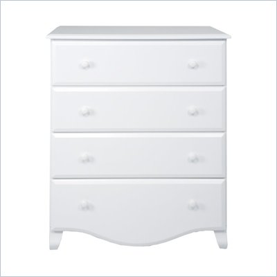 DaVinci Emily 4 Drawer Chest in White Finish