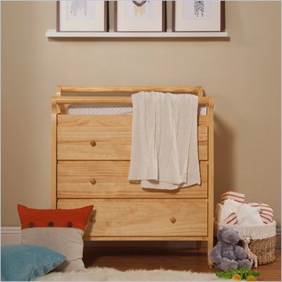 DaVinci Emily Pine Wood 3-Drawer Changing Table in Natural