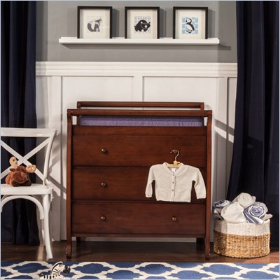 DaVinci Emily Pine Wood 3-Drawer Changing Table in Espresso