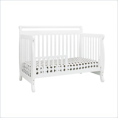 DaVinci Emily 4-in-1 Convertible Wood Crib Nursery Set w/ Toddler Rail in White