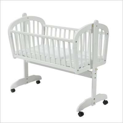 DaVinci Futura Wood Baby Cradle in White