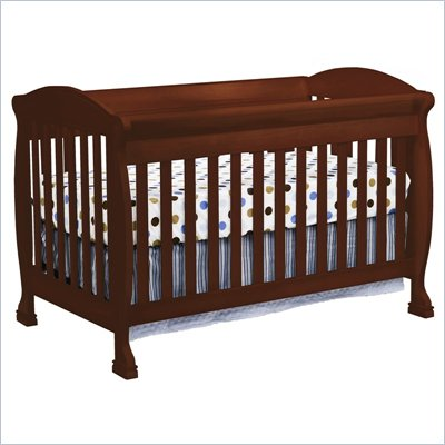 DaVinci Jacob 4-in-1 Convertible Crib and Full Size Rail Kit in Cherry Including Toddler Rails