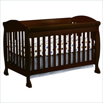 DaVinci Jacob 4-in-1 Convertible Crib in Espresso Including Toddler Rails