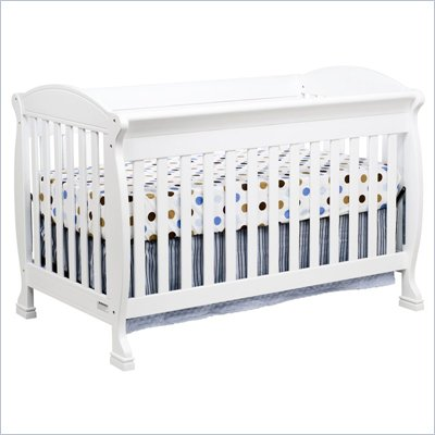 DaVinci Jacob 4-in-1 Convertible Crib in White Including Toddler Rails