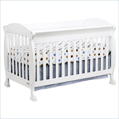 DaVinci Jacob 4-in-1 Convertible Crib and Full Size Rail Kit in White Including Toddler Rails