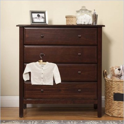 DaVinci Jayden 4 Drawer Dresser in Espresso