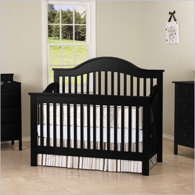 DaVinci Jayden 4-in-1 Convertible Wood Baby Crib w/ Toddler Rail in Ebony
