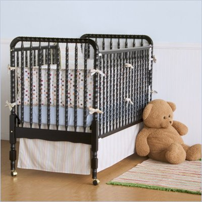 DaVinci Jenny Lind Wood 3-in-1 Convertible Baby Crib in Ebony