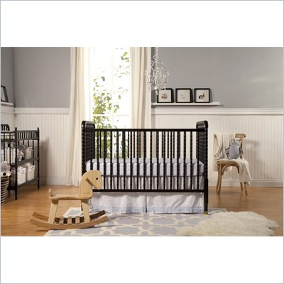DaVinci Jenny Lind 3-in-1 Stationary Convertible Wood Crib in Ebony