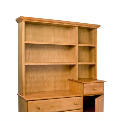 DaVinci Kalani Combo Wood Dresser Hutch in Honey Oak