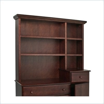 DaVinci Kalani Combo Wood Dresser Hutch in Espresso