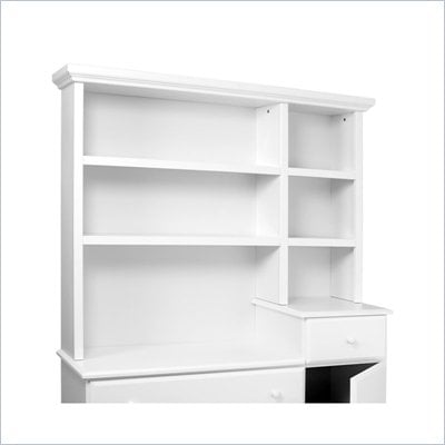 DaVinci Kalani Combo Wood Dresser Hutch in White