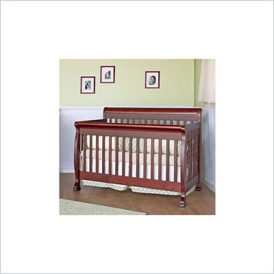 DaVinci Kalani 4-in-1 Convertible Crib Nursery Set w/ Toddler Rail in Cherry