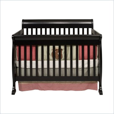 DaVinci Kalani 4-in-1 Convertible Wood Baby Crib w/ Toddler Rail in Ebony