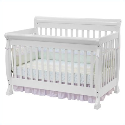 DaVinci Kalani 4-in-1 Convertible Wood Baby Crib w/ Toddler Rail in White