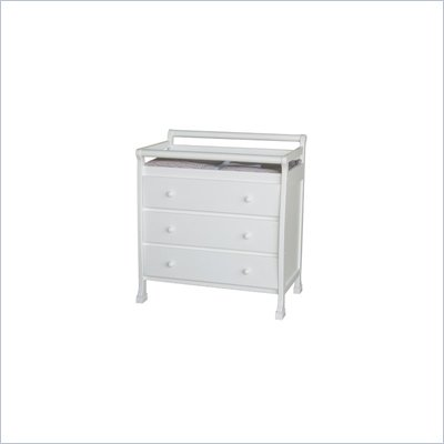 DaVinci Kalani Pine Wood 3-Drawer Changing Table in White