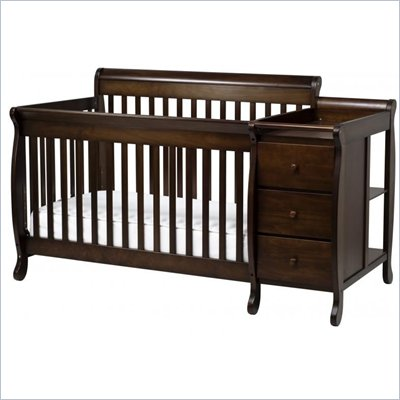 DaVinci Kalani Convertible 4-in-1 Baby Crib and Changer including Toddler Rail in Espresso