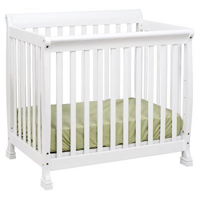 DaVinci Kalani Convertible Mini Wood Crib in White Finish