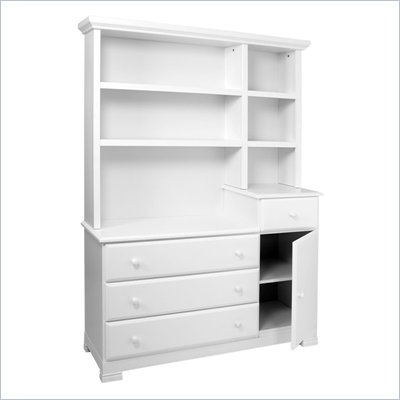 DaVinci Kalani 4 Drawer Combo Chest with Hutch in White Finish