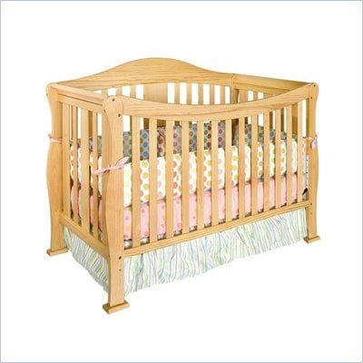 DaVinci Parker 4 in 1 Convertible Wood Baby Crib w/ Toddler Rail in Natural