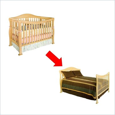 DaVinci Parker 4-in-1 Convertible Wood Crib Set in Natural