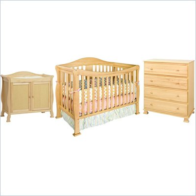DaVinci Parker 3-PC Convertible Crib Nursery Set w/ Toddler Rail in Natural