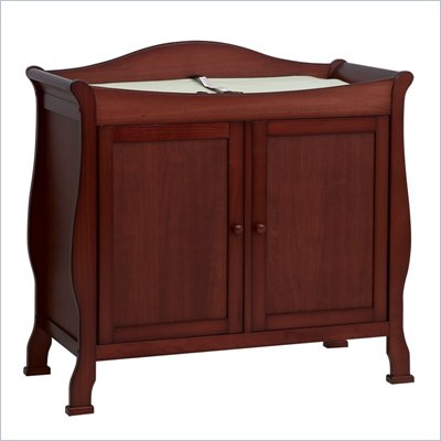 DaVinci Parker 2-Door Wood Changing Table in Cherry