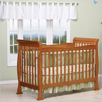 Da Vinci Reagan 4-in-1 Convertible Wood Crib w/ Toddler Rail in Oak